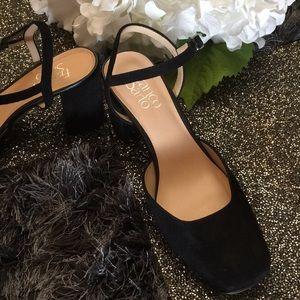 Black Suede Ankle Heel